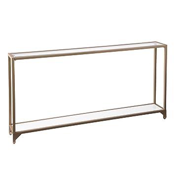 Furniture HotSpot   Metal Skinny Console Table   Gold   56u0026quot; W X 8u0026quot;