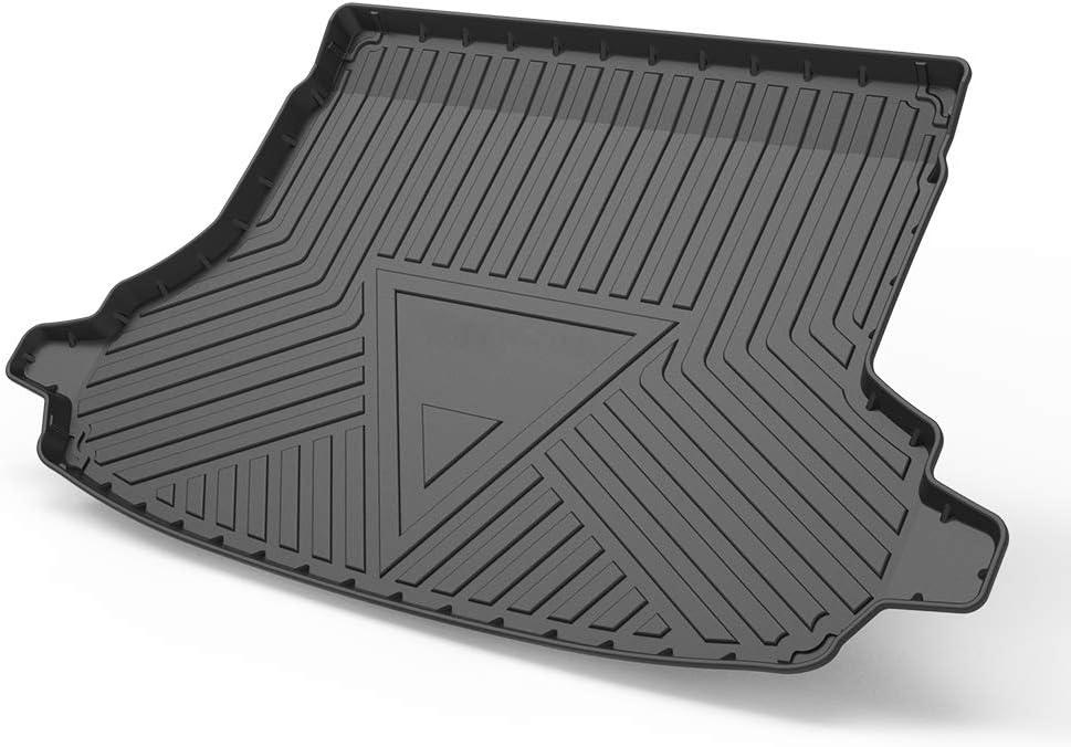 Cqlights Forester Cargo Liner for Subaru Forester 2014-2018 Trunk Liner Tray Heavy Duty Rubber Rear Cargo Area Mat Waterproof Protector Floor Mat Black
