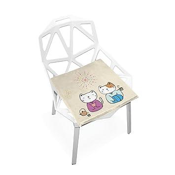 Amazon.com: Xinxin cojín de asiento Kimono gatos cojines ...