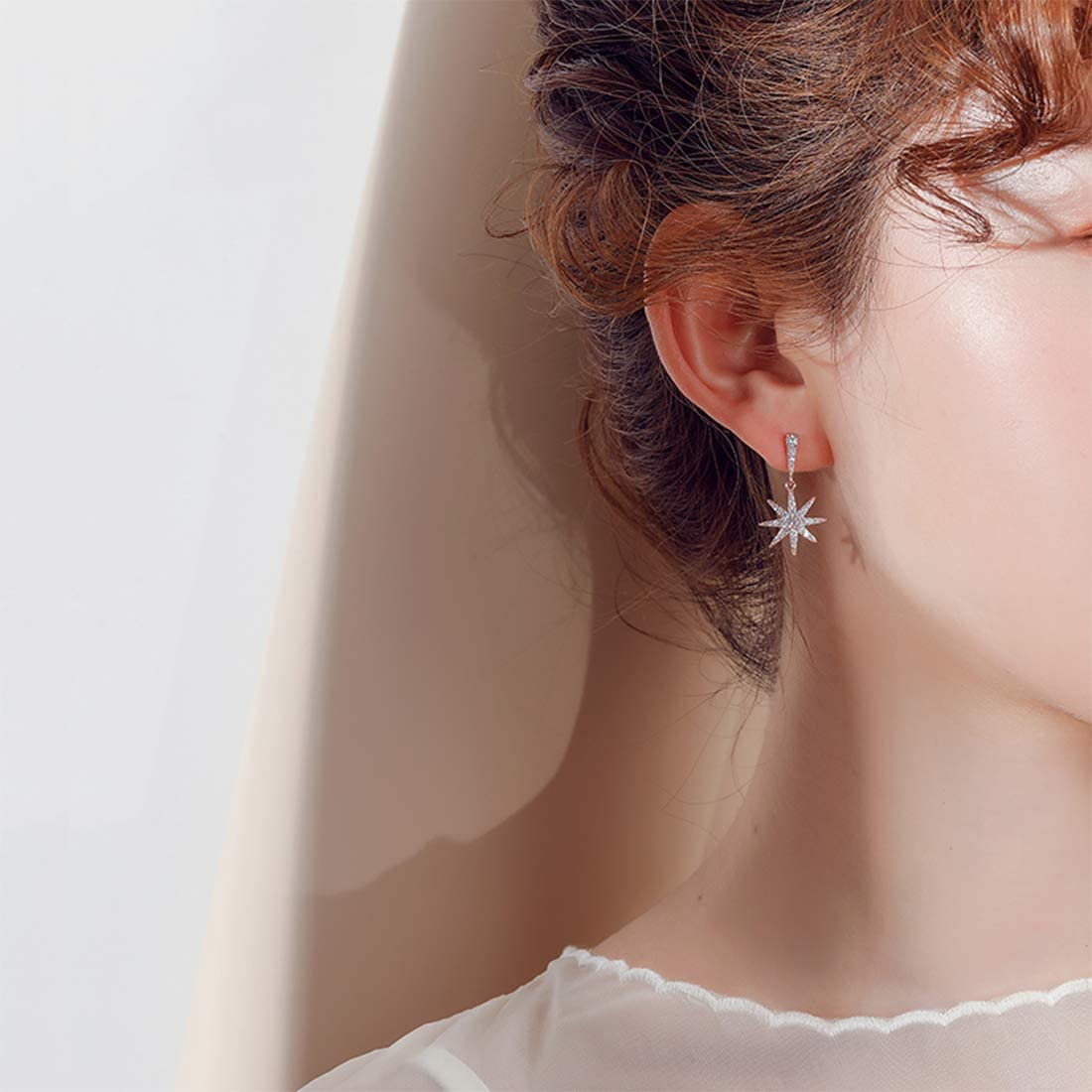 Swan Boucles doreilles /étoiles en oxyde de zirconium pour fille et femme Mrs