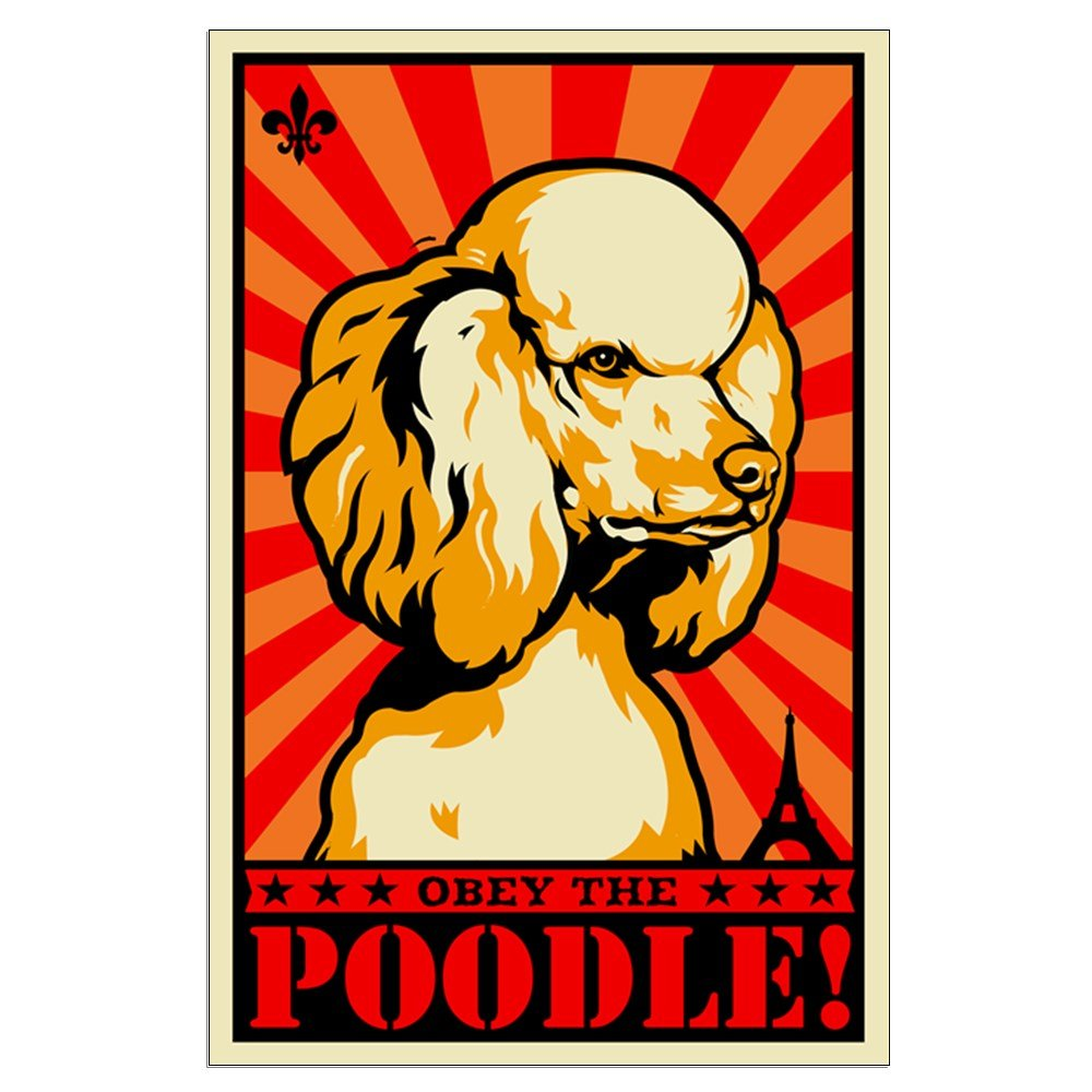 Amazon.com: CafePress - Obey The POODLE! Large Propaganda Poster ...