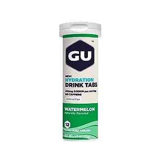 GU Energy Brew Electrolyte - Hydration Drink Tabs 1 tubo x 12 tabletas - Sandia