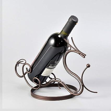 HAIZHEN Soportes para botellas de vino de hierro moderna forma de dragón mesa de cocina Accesorios
