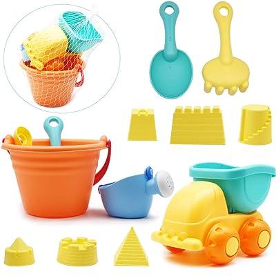 "Beach Toys  Playset for Kids 3  pieces 11/"" Dump Truck Sand Shovel tool Set Gift"