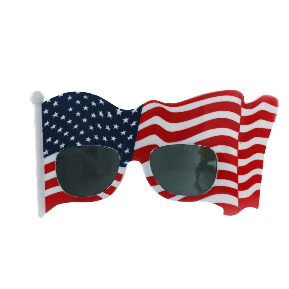 BESTOYARD Amerikanische Flagge Sonnenbrille lustige US-Flagge Brille Cosplay Brillen Requisiten für uns Unabhängigkeitstag 4. Juli Party Favors