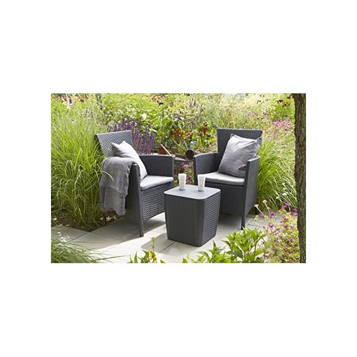 61XFdZbQ1PL Incluye un cojín en el asiento y respaldo ergonómico. Sillón para interior y exterior, ideal para jardines, terrazas, porches y otros espacios de entretenimiento. Acabado de ratán plano plano, duradero, resistente al clima y a la corrosión.
