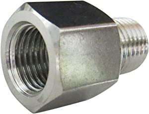 "Metalwork Stainless Steel 304 Forged Pipe Fitting, 3/8"" NPT Female x 1/4"" NPT Male Reducer Adapter, High Pressure (1 Pc)"