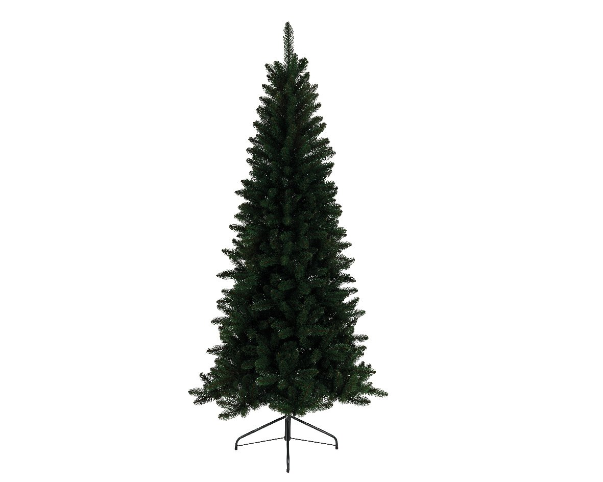 Kaemingk Everlands 7ft Lodge Slim Pine Artificial Christmas Tree ...