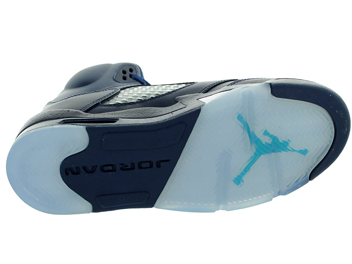 fd3d0b12383 ... netherlands amazon 440888 405 air jordan aj 5 retro bg grade school  shoes midnight navy turquoise