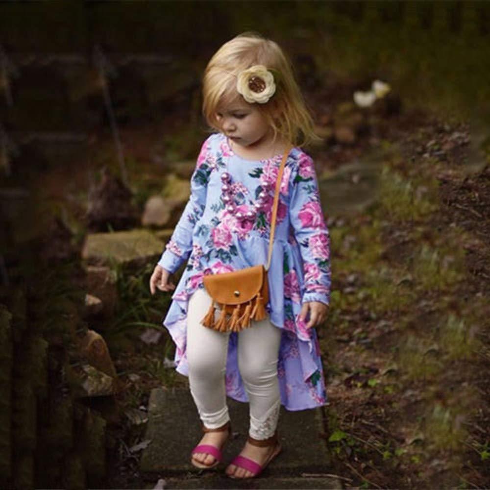 Tronet Infant Girls Autumn Winter Floral Print Tops Baby Fashion T Shirt Dress