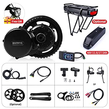 Electric Bike Motor Kit Mid Drive BBS02B 48V 500W Bicycle Conversion Kit  Ebike Components Electric Bicycle Motor, Optional 48V 11 6Ah/17 5Ah Battery