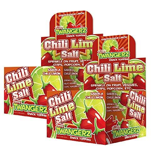 Twang Chili Lime Flavored Salt, Twangerz 2 Pack, Flavor Blends, 1 Gram Packets, 400 count ()