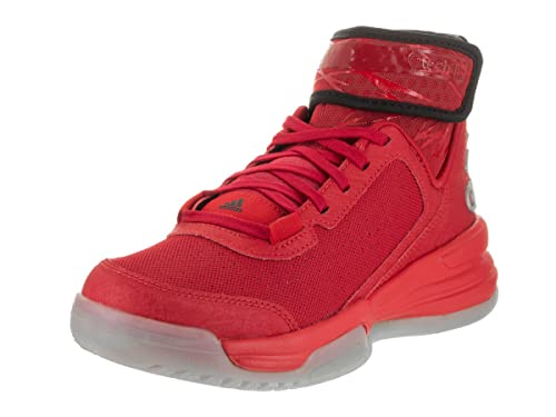 Adidas zapatos de baloncesto de la doble amenaza Junior 7 Scarlet negro Power Rojo