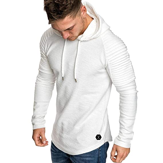 Camisa Hombre, Camisetas Casuales M~3XL Camiseta de Manga Larga con Cuello en O
