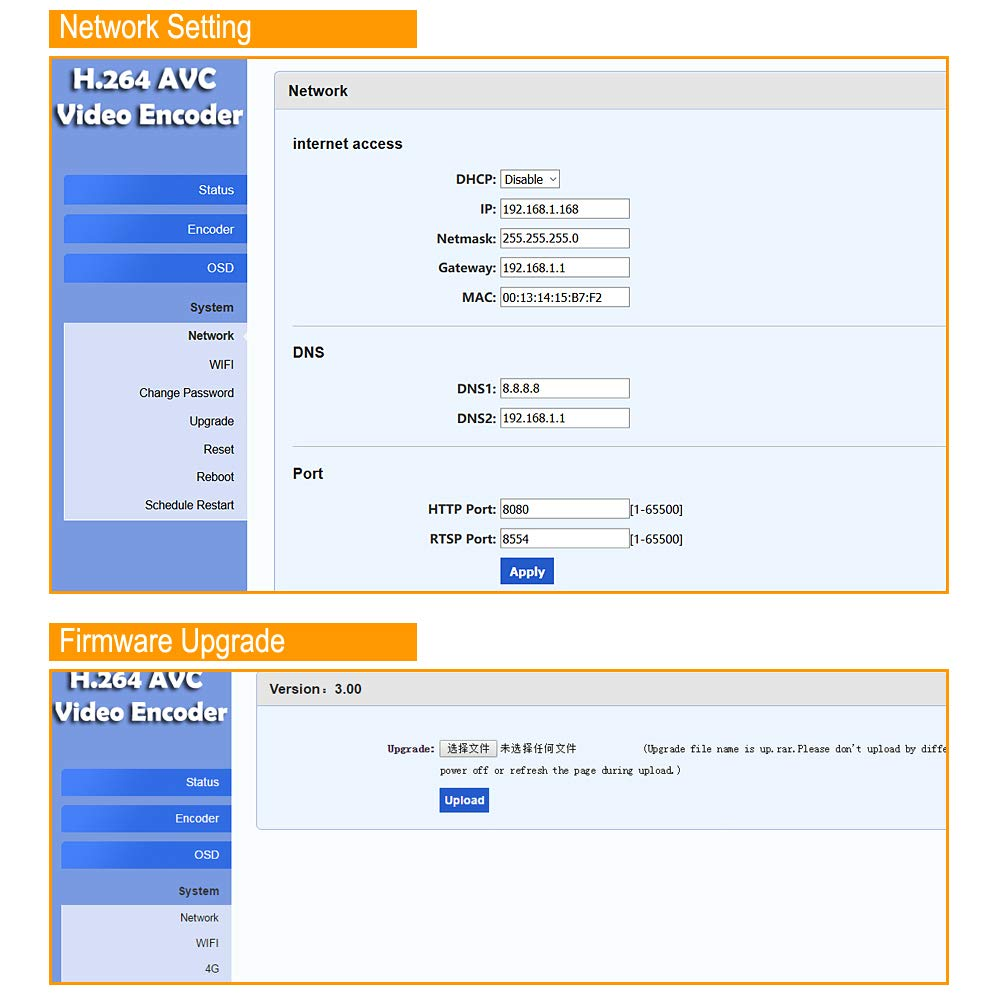 Amazon com: URayCoder Wireless H 264 HD VGA Video Audio to