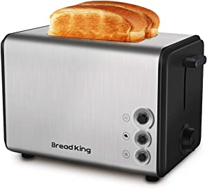 Toaster 2 Slice, Extra Wide Slots Best 2 Slice Toaster Best Rated Prime Stainless Steel with 7 Bread Shade Settings Bread Toaster and Removable Crumb Tray