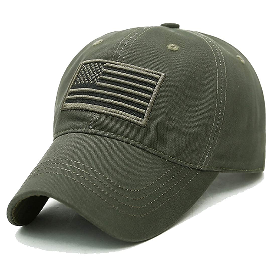 LOKIDVE USA American Flag Baseball Cap Embroidered Polo Style Military Army Hat