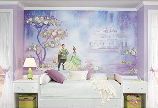 Roommates Jl1206m Princess And Frog Water Activated Removable Wallpaper Mural 10 5 Ft X 6 Wall Decor Stickers Amazon Com