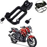 Yashinika Pack of 1 Black Security Helmet Lock for Hero All Bike Models