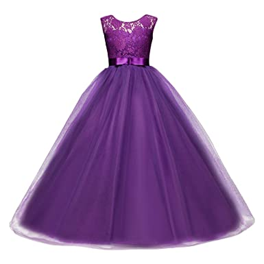 94bdec8c7988 Girls Ball Gown Dress Wedding Princess Bridesmaid Party Prom Birthday for Kids  5-13 Years