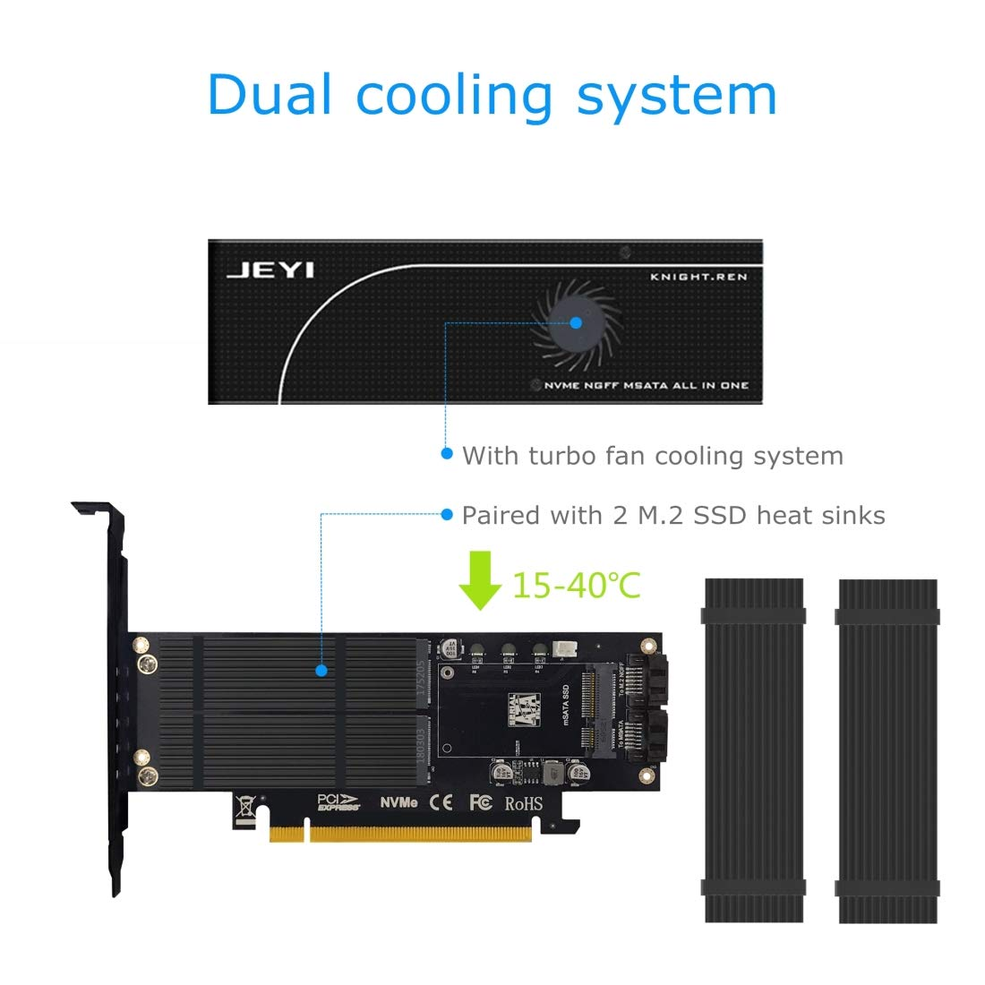 Amazon.com: Dual M.2 and mSATA SSD Adapter Cards for M.2 NVME and AHCI to PCIE, M.2 SATA-Based SSD to SATA, mSATA to SATA,3 in 1 SSD Expansion Card with ...