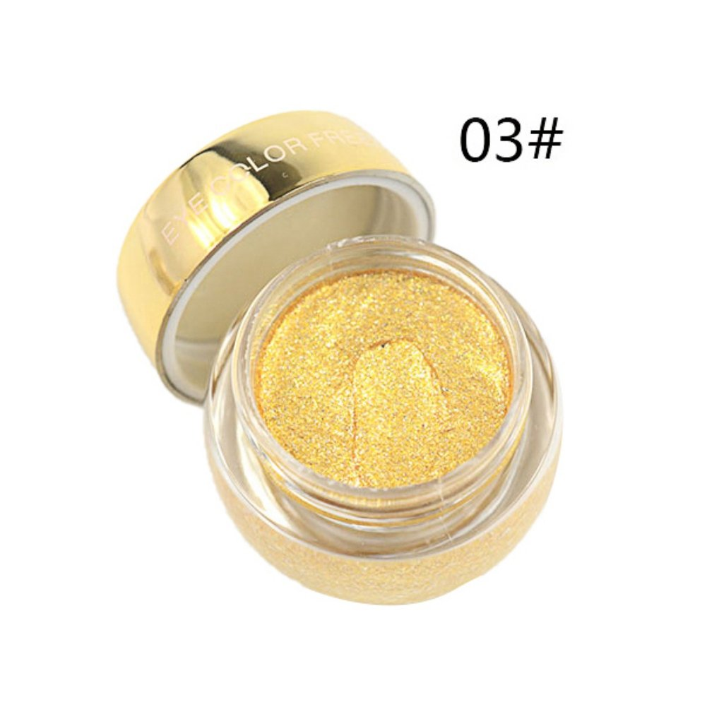 Allbesta Individuell Farban Lidschatten Gel Crème Glitzer Gel Party Metallic Professionelle Party Formal Makeup (01#)