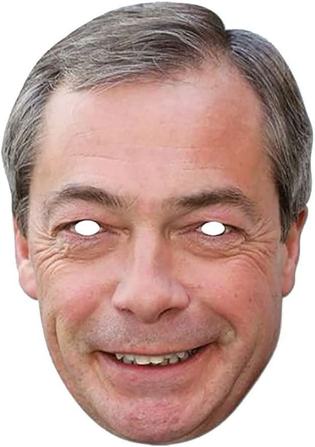 Lord Fox Nigel Farage Uk Politician Celebrity Face Mask Fancy Dress Party Single Face Mask With Elastic String Ready To Wear