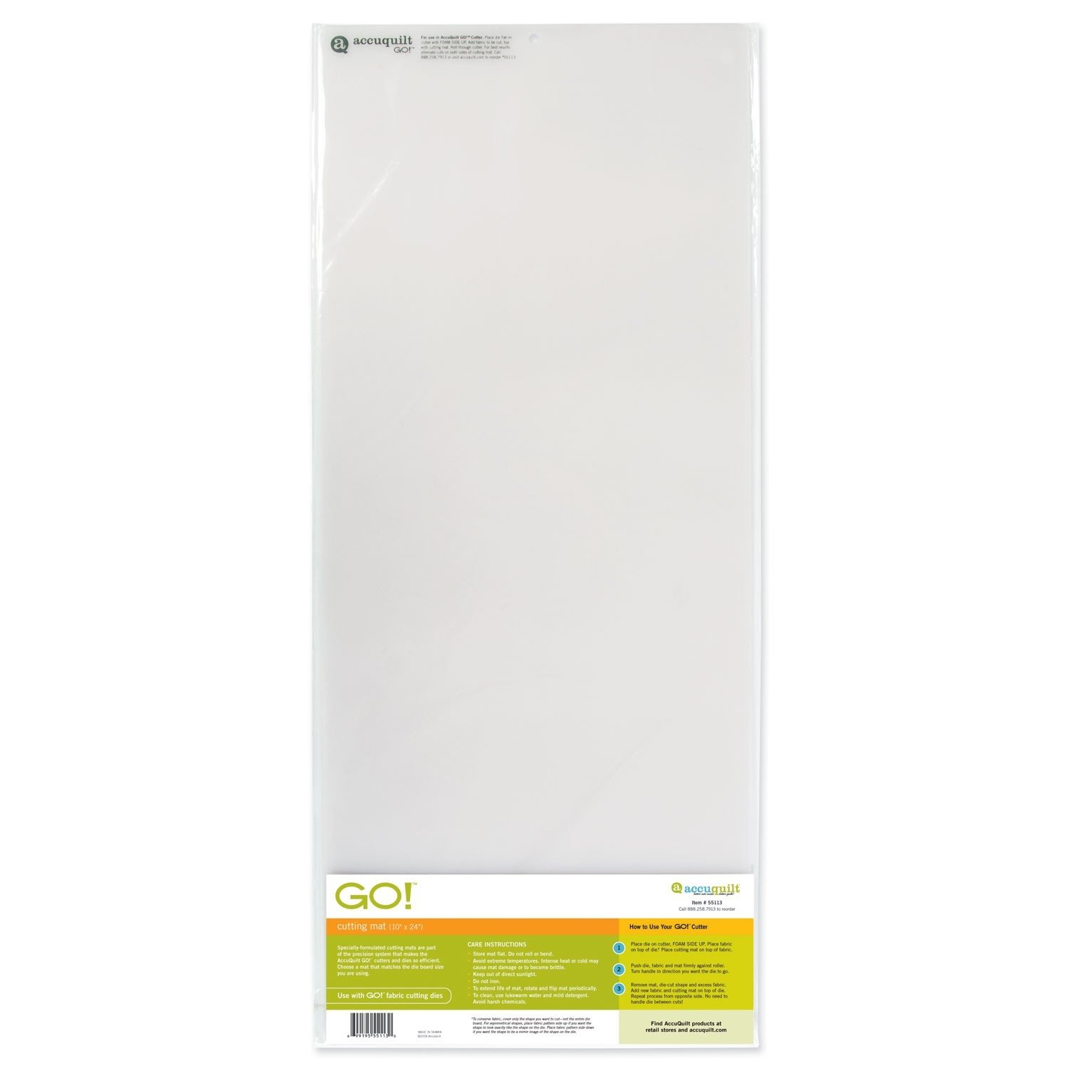 AccuQuilt Go Cutting Mat, 10-Inch-by-10-Inch 55111