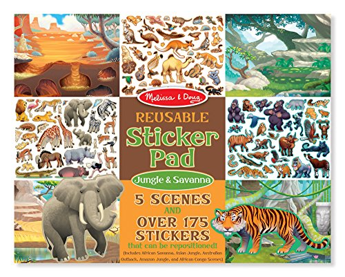 Melissa & Doug Reusable Sticker Activity Pad - Jungle & Savanna Toy (Animals Savanna)