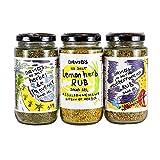 David's Mediterranean Salt Free Seasoning Rub Set (Herbes de Provence, Mediterranean, Lemon)