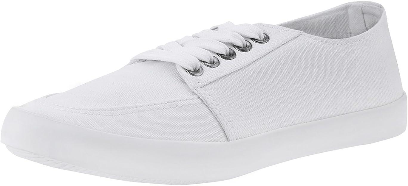 oodji Ultra Mujer Zapatillas Básicas de Algodón, Blanco, 37 EU / 4 ...