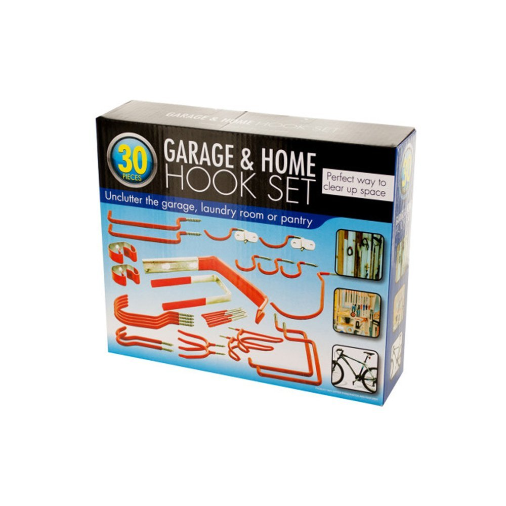 bulk buys 30 Piece Garage and Home Assorted Hook Set by bulk buys