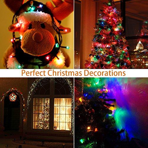 Reject Shop Christmas Solar Lights: BONAOK Christmas Outdoor Solar Lights, 200 Led Christmas