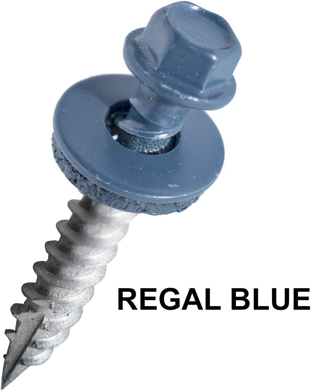Self Starting//self Tapping Metal to Wood 1.5 Inch, Charcoal EAGLE 1 Metal Roofing Screws Painted Hex Washer Head Sheet Metal Roof Screw Sheet Metal Roofing siding Screws 500 Count