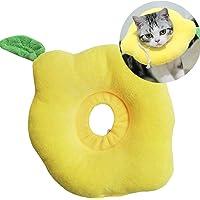 Huret Collar de recuperación ajustable para perro, cono protector de curación de heridas de limón, collares isabelinos…