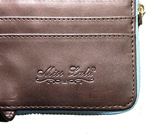Beige Butterfly Owl Purse Polka Spot Dots Lulu Wallet Bag Folded Butterfly Designer Oilcloth Miss Zip qxAwaO6n