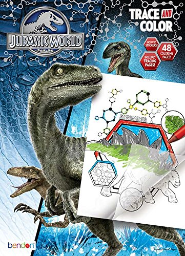 Bendon Jurassic World Trace And Color Coloring Activity Book