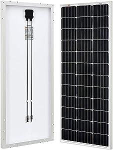 RICH SOLAR 100 Watt 12 Volt Monocrystalline Solar Panel High Efficiency Solar Module Charge Battery for RV Trailer Camper Marine Off Grid
