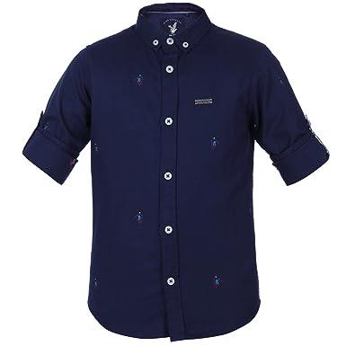 28d761fce Urban Scottish Boy's Cotton Casual Shirt (Navy Blue, 4-5 Years ...