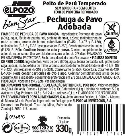 ElPozo Pechuga de Pavo Adobada, 330g