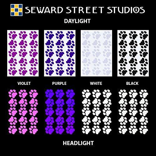 Seward Street Studios Reflective Decals Cat Print Set – Cat Tracks Safety Sticker Kit – Cat Prints Reflector Stickers (Red) by Seward Street Studios (Image #6)