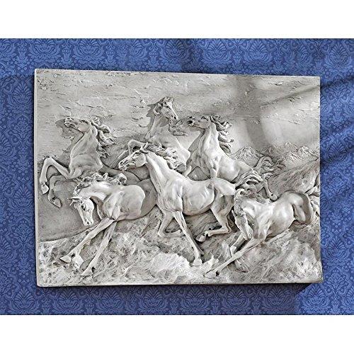 - Design Toscano Wild Horse Stampede Wall Frieze