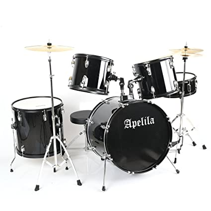 Amazon Com Apelila 5 Piece Full Size Complete Adult Drum Sets