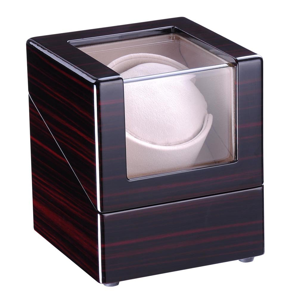 Yescom Wood Wooden Automatic Watch Winder Display Case Japan Motor Organizer as Christmas Xmas Holiday Men/Women Gift