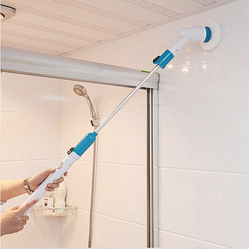 Tub and Tile Scrubber- Cordless Power Spin Scrubber for Bathroom ...