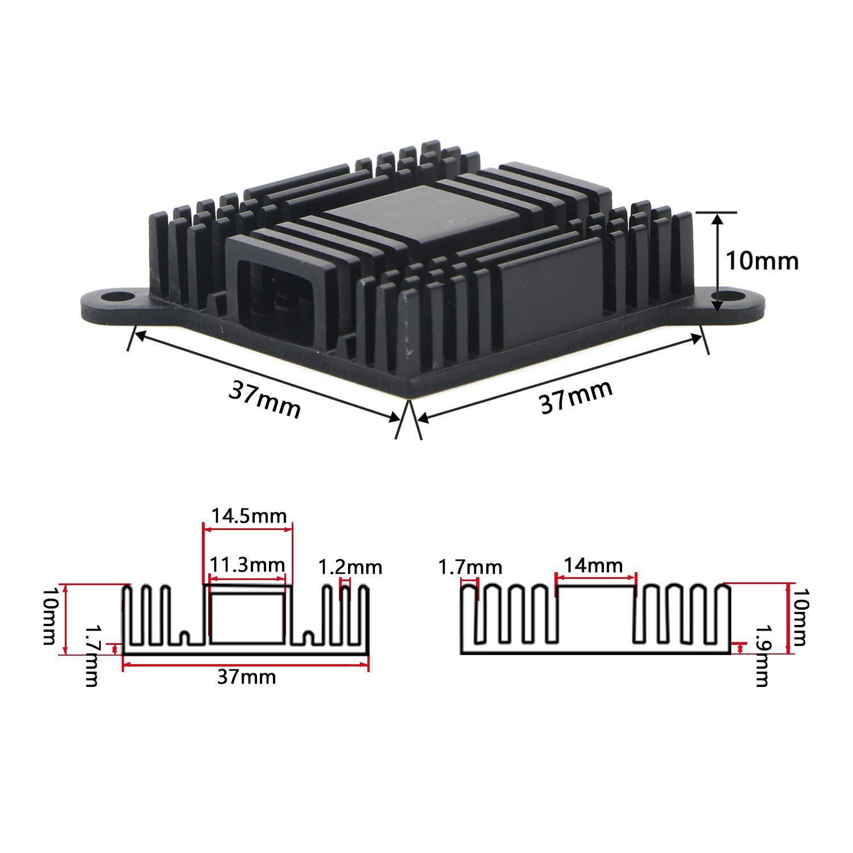 JIUWU Aluminum Heat Sink South Bridge North Bridge Radiator Cooling Fin for IC Chipset Module Cooler 10pcs Set