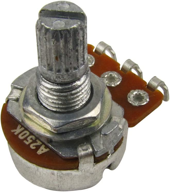Musiclily Guitar Small Size Pots A500K Potentiometers for Guitar Bass Parts Pack of 2