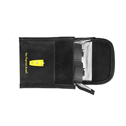 Kismaple Estuche de Bolsa de batería LiPo Resistente al Fuego a ...