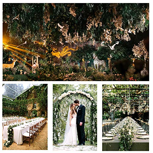 JPSOR 24 Pack (79 inch Each) Fake Ivy Artificial Ivy Leaves Greenery Garlands Hanging for Wedding Party Garden Wall Decoration by JPSOR (Image #6)