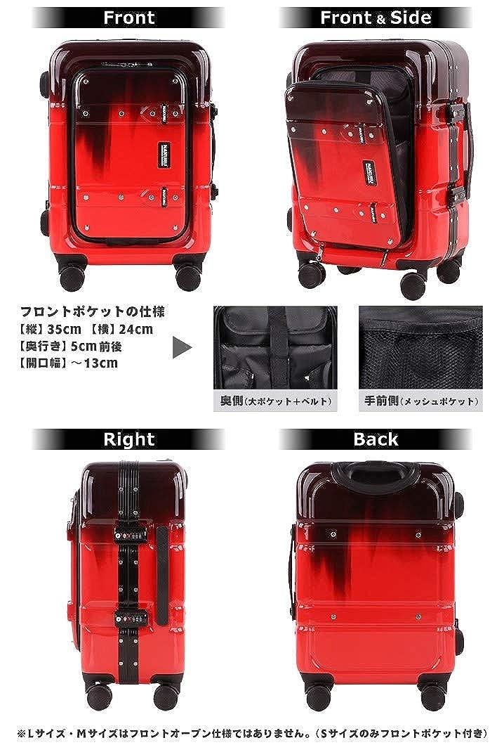 473a208a17 Amazon   スーツケース S サイズ フロントオープン トランク 小型 アルミフレーム 前開きポケット ABS+PC 計8輪 Wキャスター TSA  トランクケース キャリーケース ...